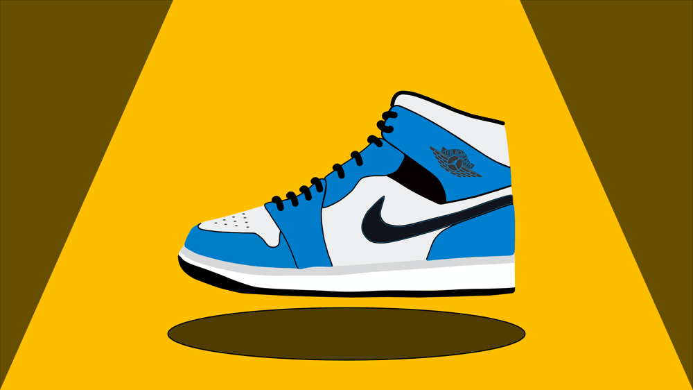 Nike AJ1s Blue - image 1 - student project
