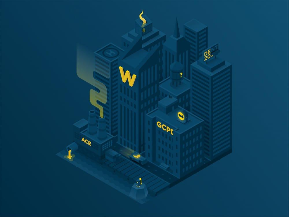 Isometric Gotham City - image 1 - student project