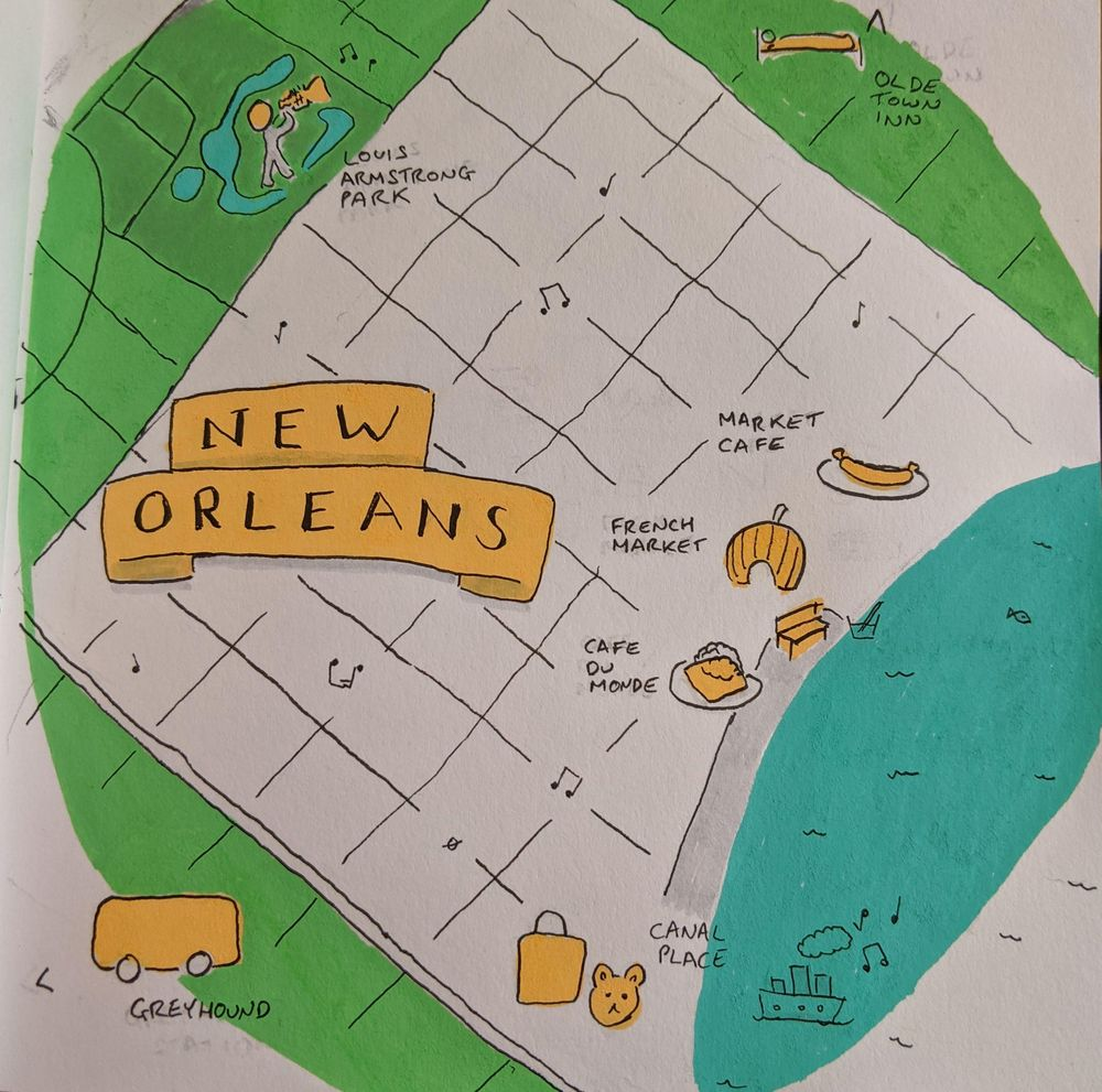 Orlando and New Orleans Travel Maps - image 2 - student project