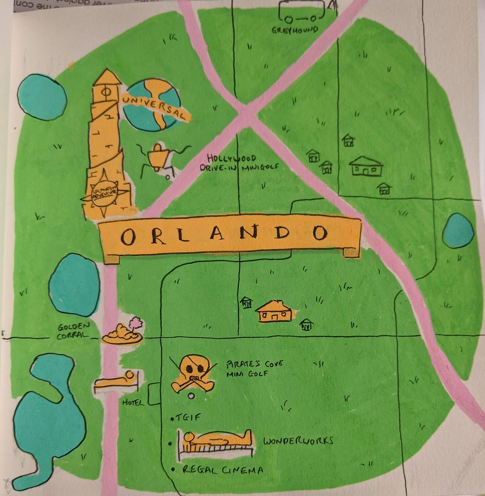 Orlando and New Orleans Travel Maps - image 1 - student project