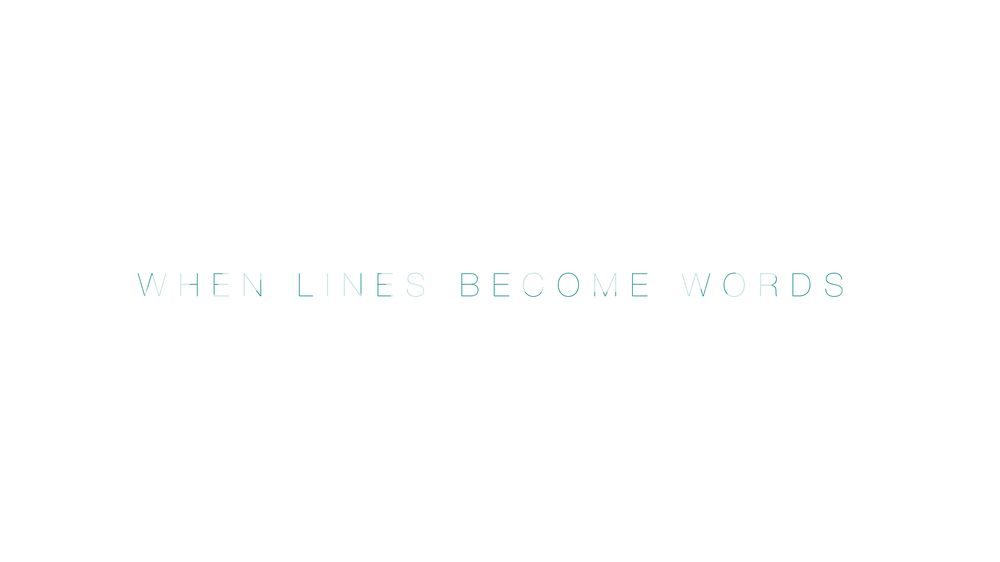 When Words Become Lines - image 1 - student project