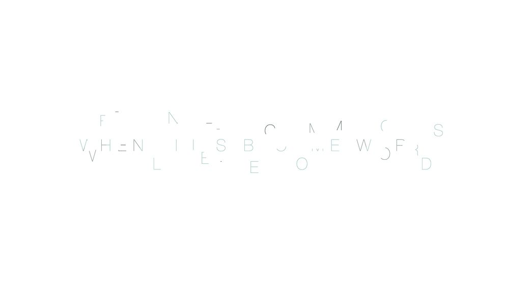 When Words Become Lines - image 5 - student project