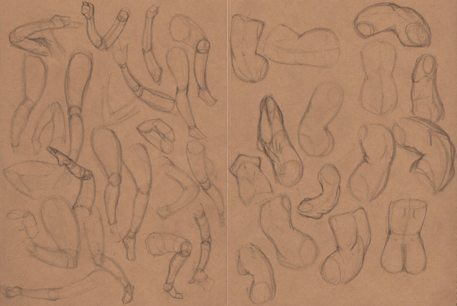 Week 9 - Gesture Drawing 'Compilations' - image 1 - student project