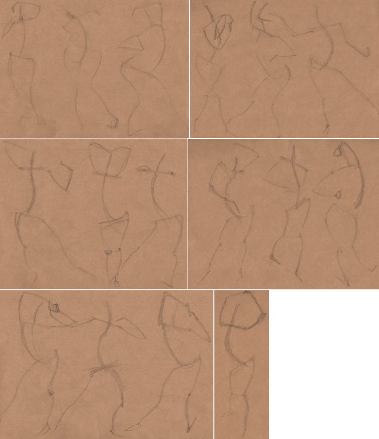 Week 9 - Gesture Drawing 'Compilations' - image 2 - student project