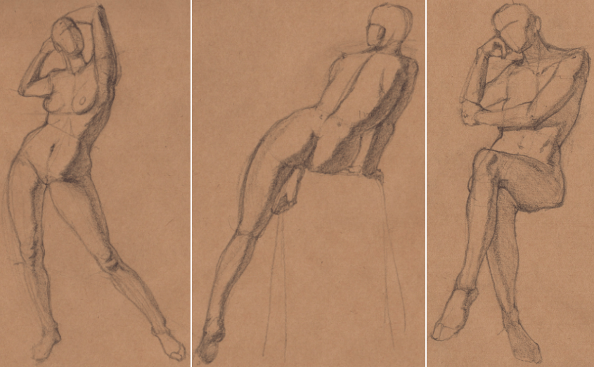 Week 9 - Gesture Drawing 'Compilations' - image 26 - student project