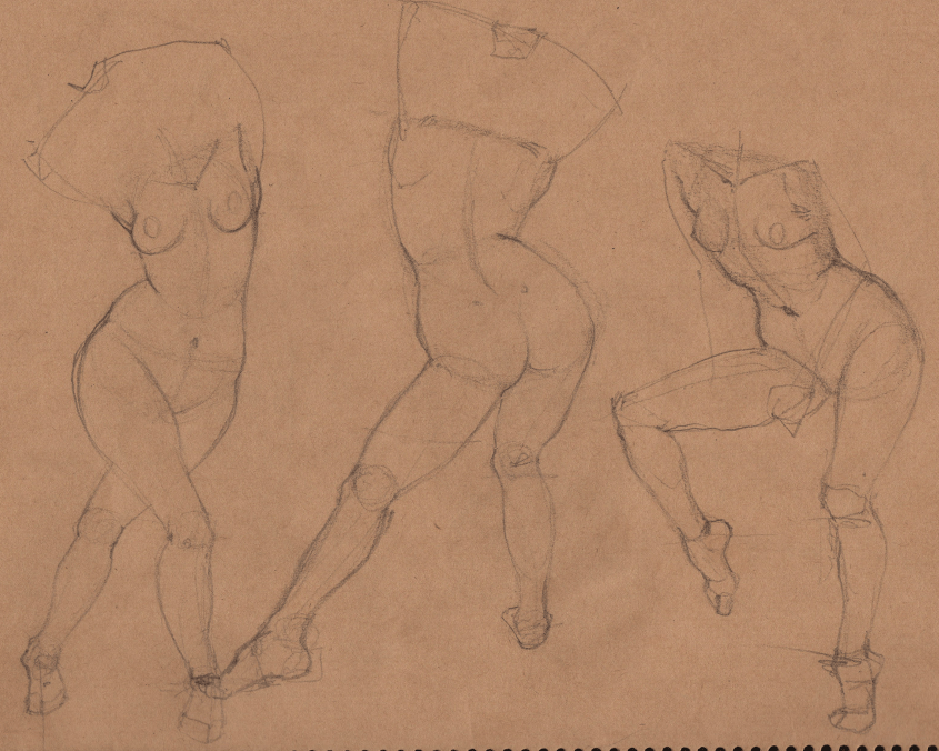Week 9 - Gesture Drawing 'Compilations' - image 15 - student project