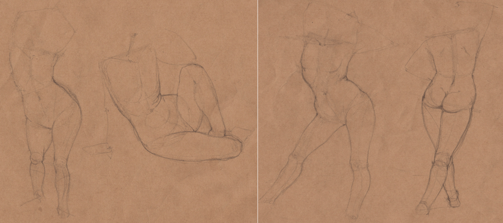 Week 9 - Gesture Drawing 'Compilations' - image 9 - student project