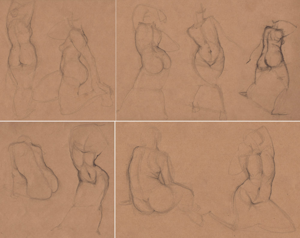 Week 9 - Gesture Drawing 'Compilations' - image 6 - student project