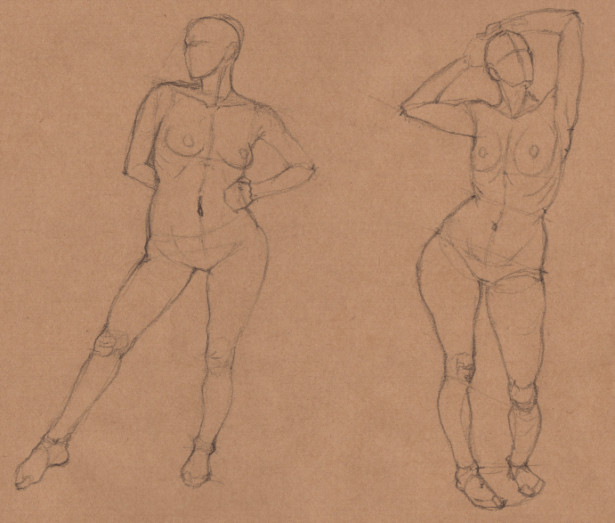 Week 9 - Gesture Drawing 'Compilations' - image 25 - student project