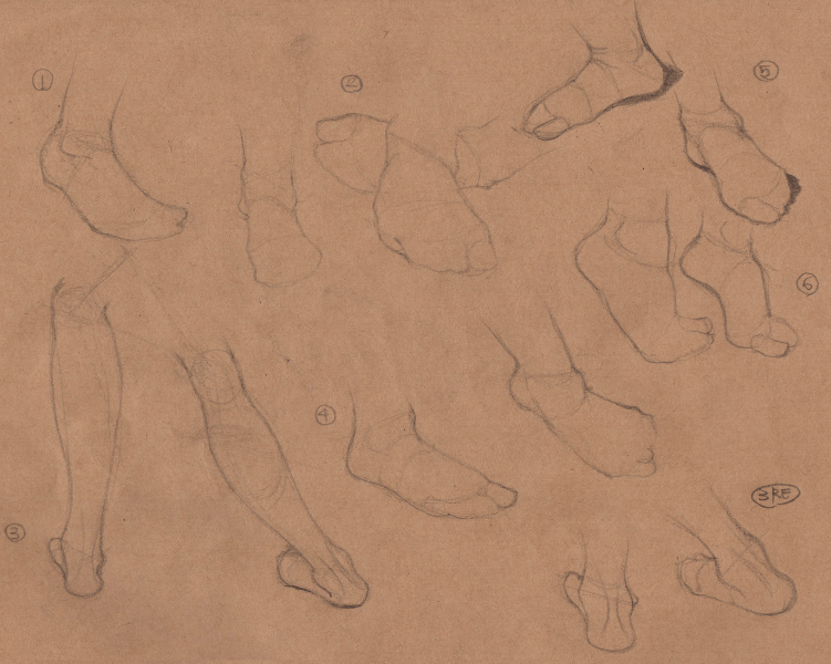 Week 9 - Gesture Drawing 'Compilations' - image 10 - student project