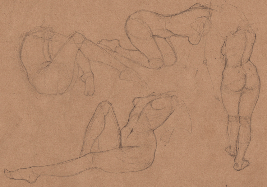 Week 9 - Gesture Drawing 'Compilations' - image 13 - student project