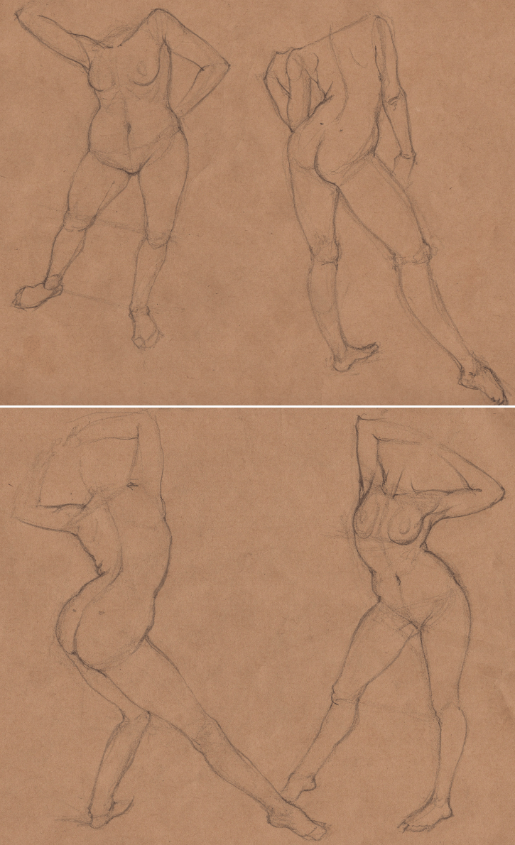 Week 9 - Gesture Drawing 'Compilations' - image 20 - student project