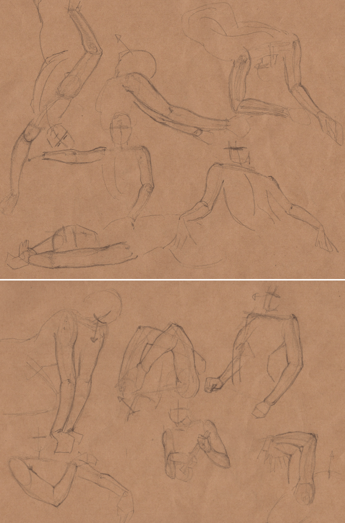 Week 9 - Gesture Drawing 'Compilations' - image 17 - student project