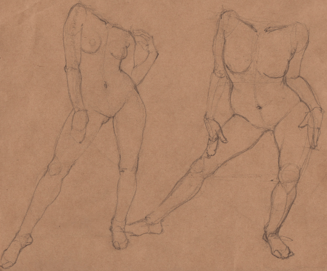 Week 9 - Gesture Drawing 'Compilations' - image 23 - student project