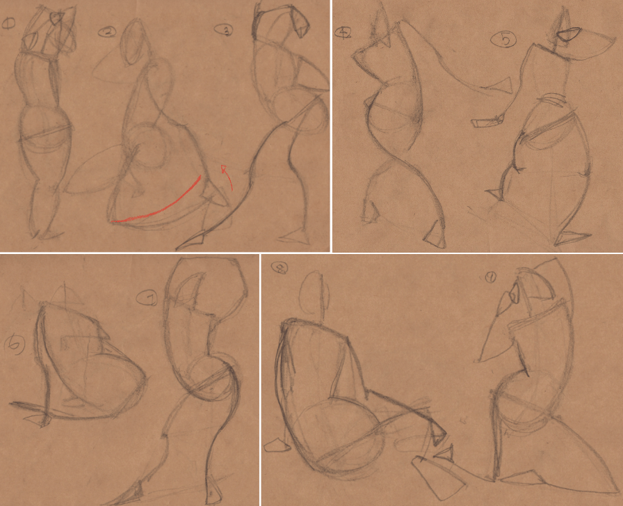 Week 9 - Gesture Drawing 'Compilations' - image 4 - student project