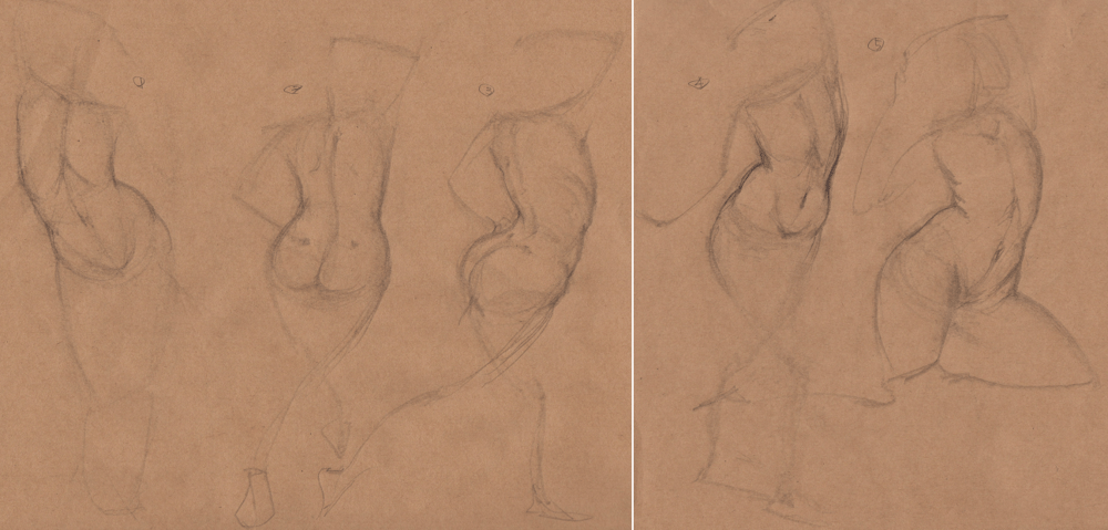Week 9 - Gesture Drawing 'Compilations' - image 5 - student project