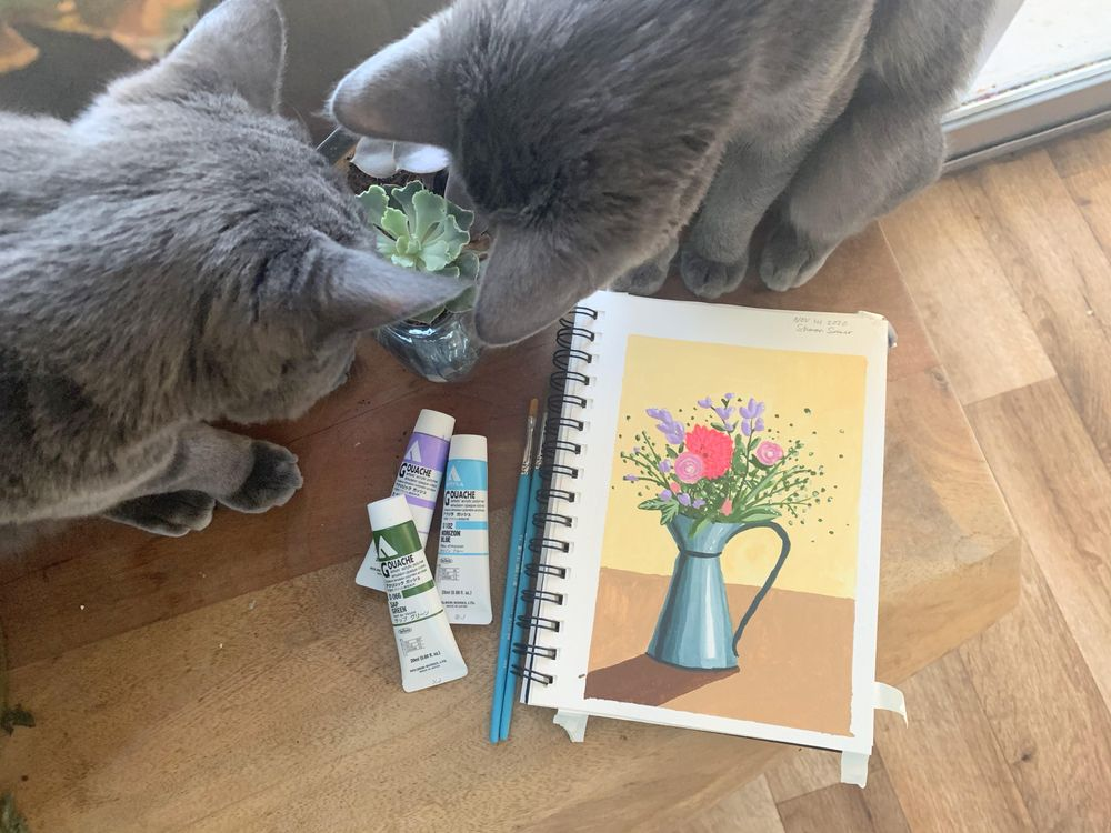 Jugs! (featuring kitties and swatches) - image 1 - student project