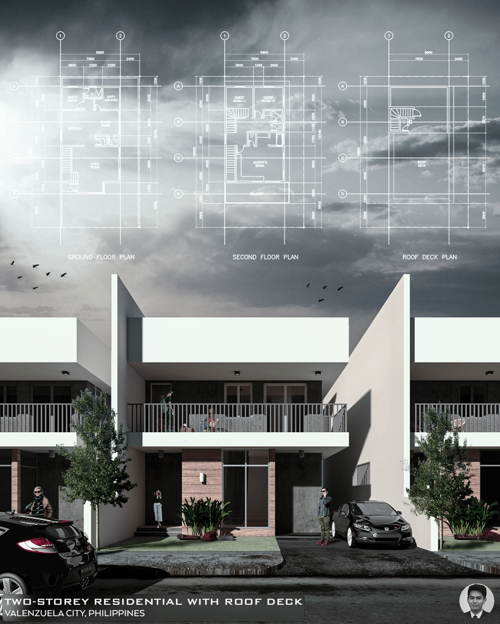 Two Storey Residential - image 1 - student project