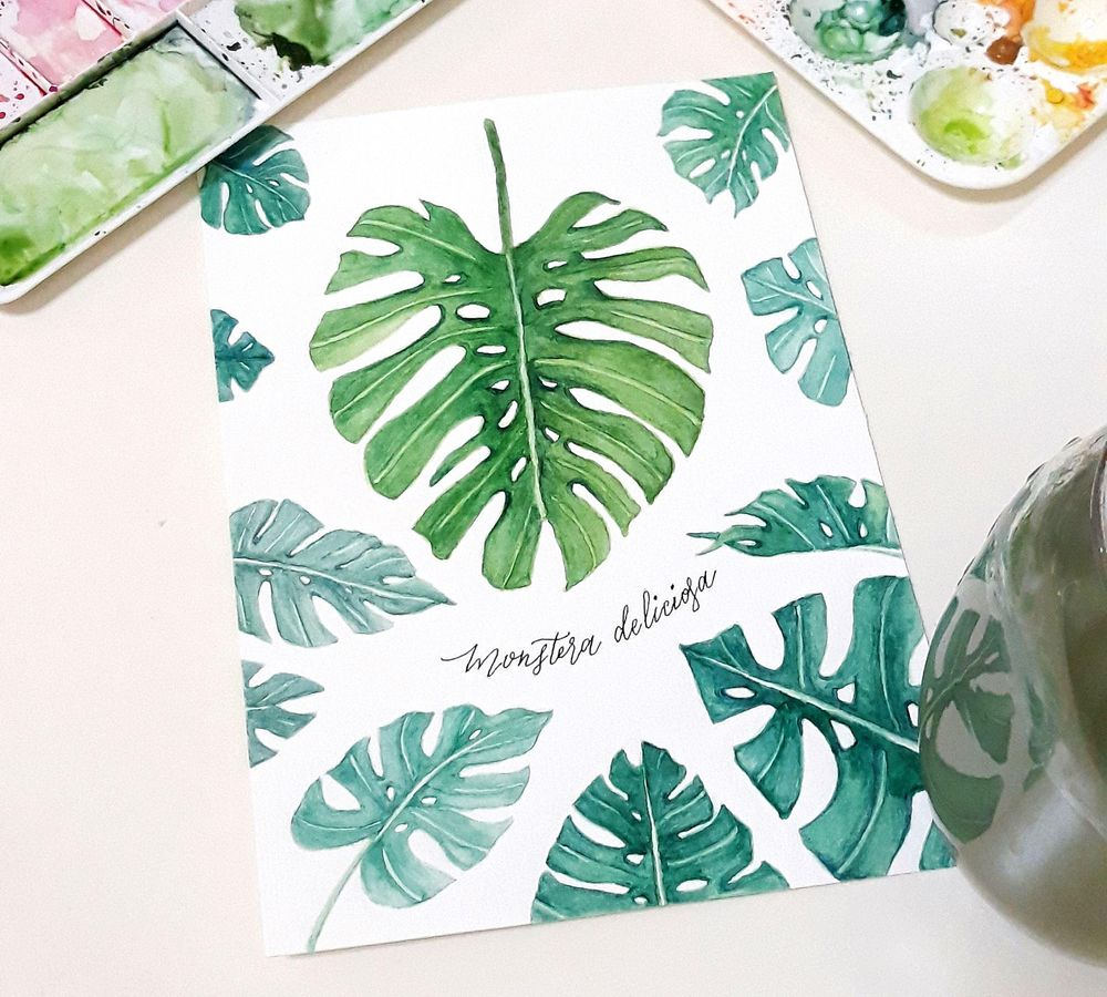 My Monstera Leaves - image 2 - student project