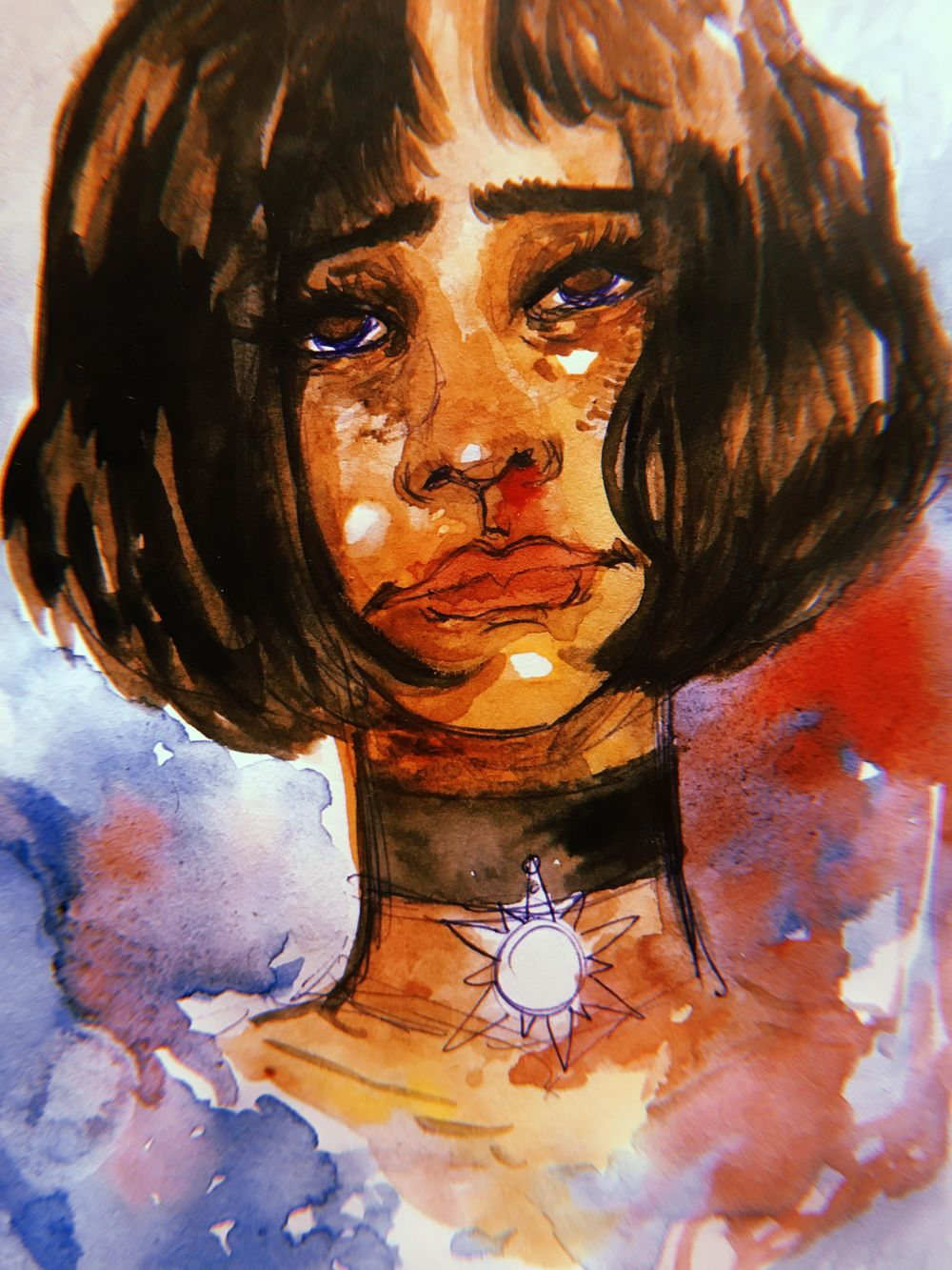 watercolor portraits - image 1 - student project