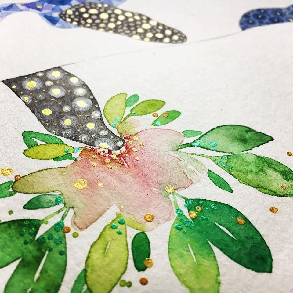 Watercolour Texture—Orca - image 2 - student project