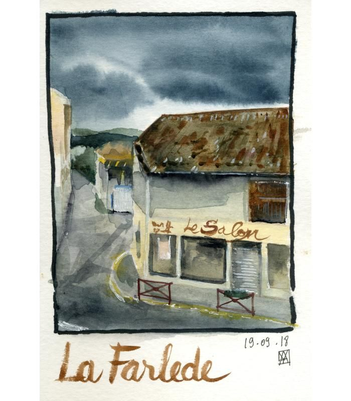 Mes essais - loose watercolour sketching - image 2 - student project