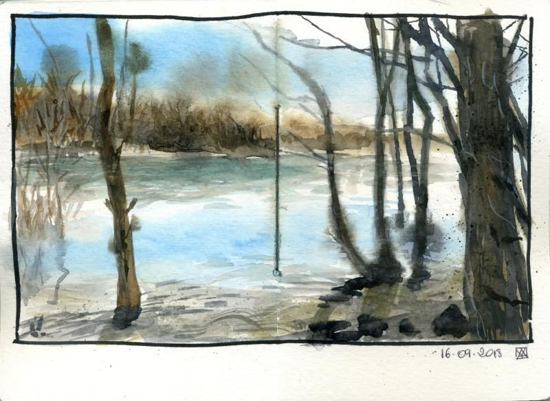 Mes essais - loose watercolour sketching - image 5 - student project