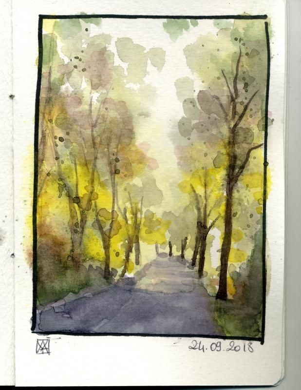 Mes essais - loose watercolour sketching - image 3 - student project