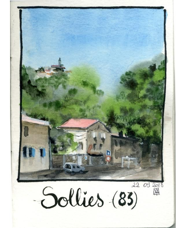 Mes essais - loose watercolour sketching - image 1 - student project