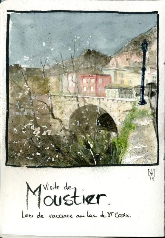 Mes essais - loose watercolour sketching - image 4 - student project