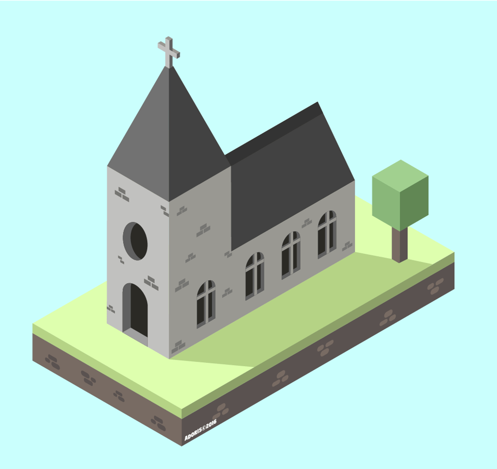 Isometric Church Project - image 2 - student project