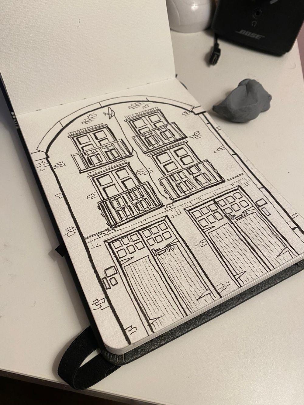 2A/2B Fenwick Pl   Urban Sketch & Paint - image 2 - student project
