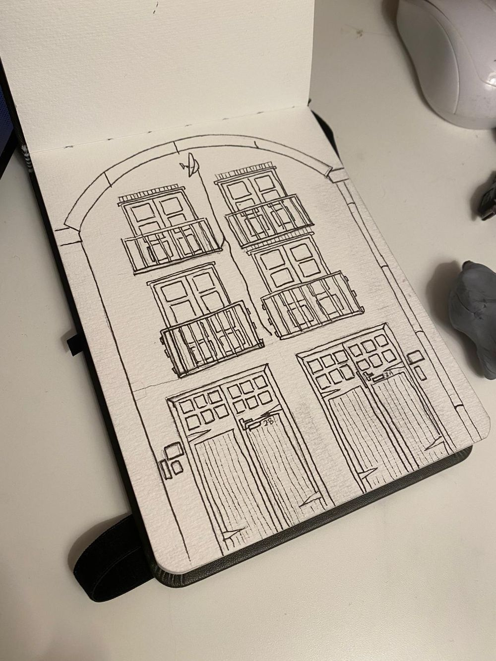2A/2B Fenwick Pl   Urban Sketch & Paint - image 1 - student project