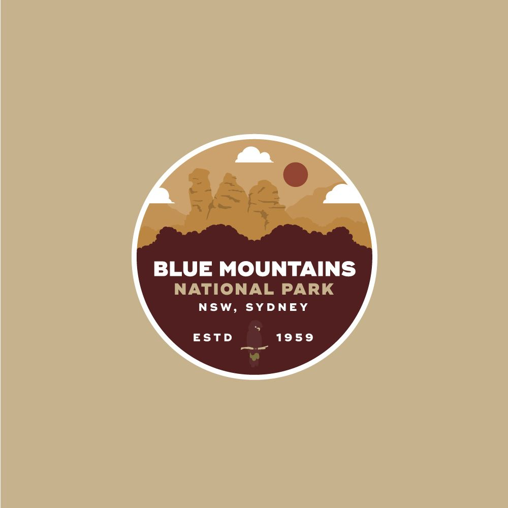 Blue Mountains National Park Badge - image 3 - student project
