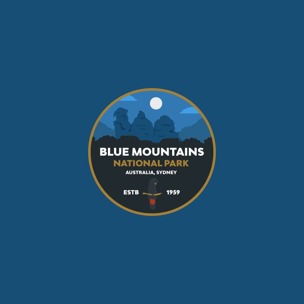 Blue Mountains National Park Badge - image 2 - student project