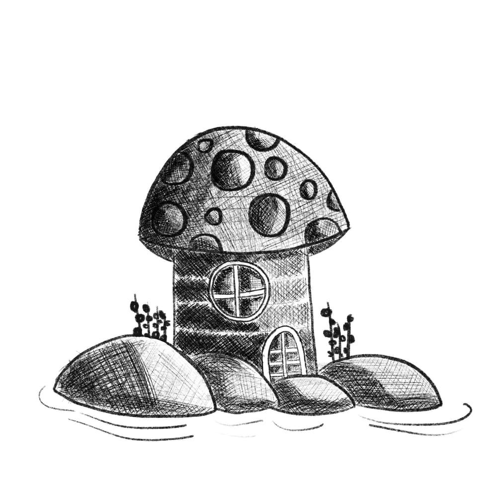 Mushroom house - image 2 - student project