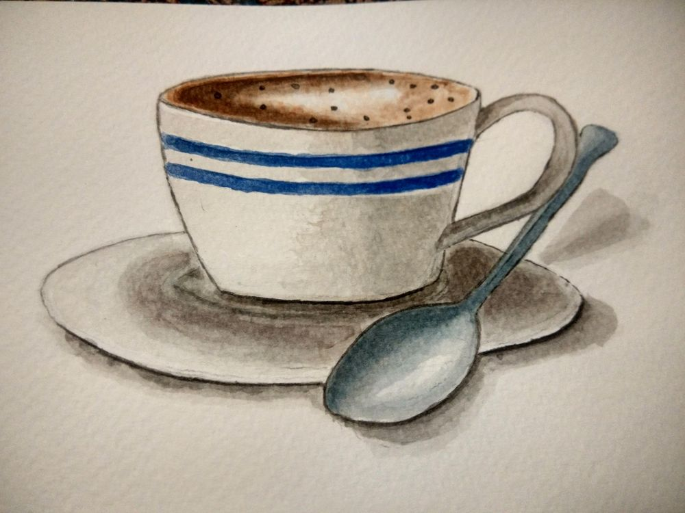 Coffee illustration  - image 2 - student project