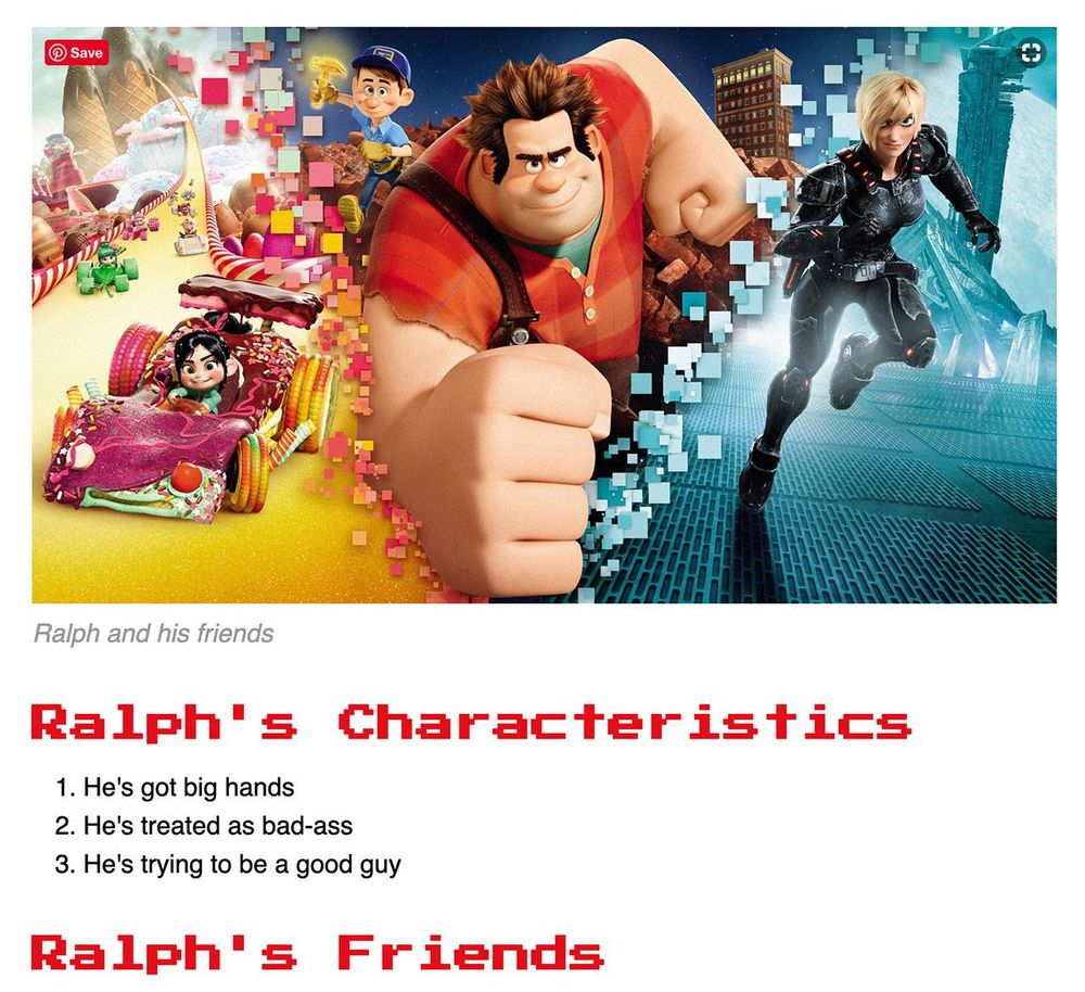 Wreck-it Ralph - image 3 - student project