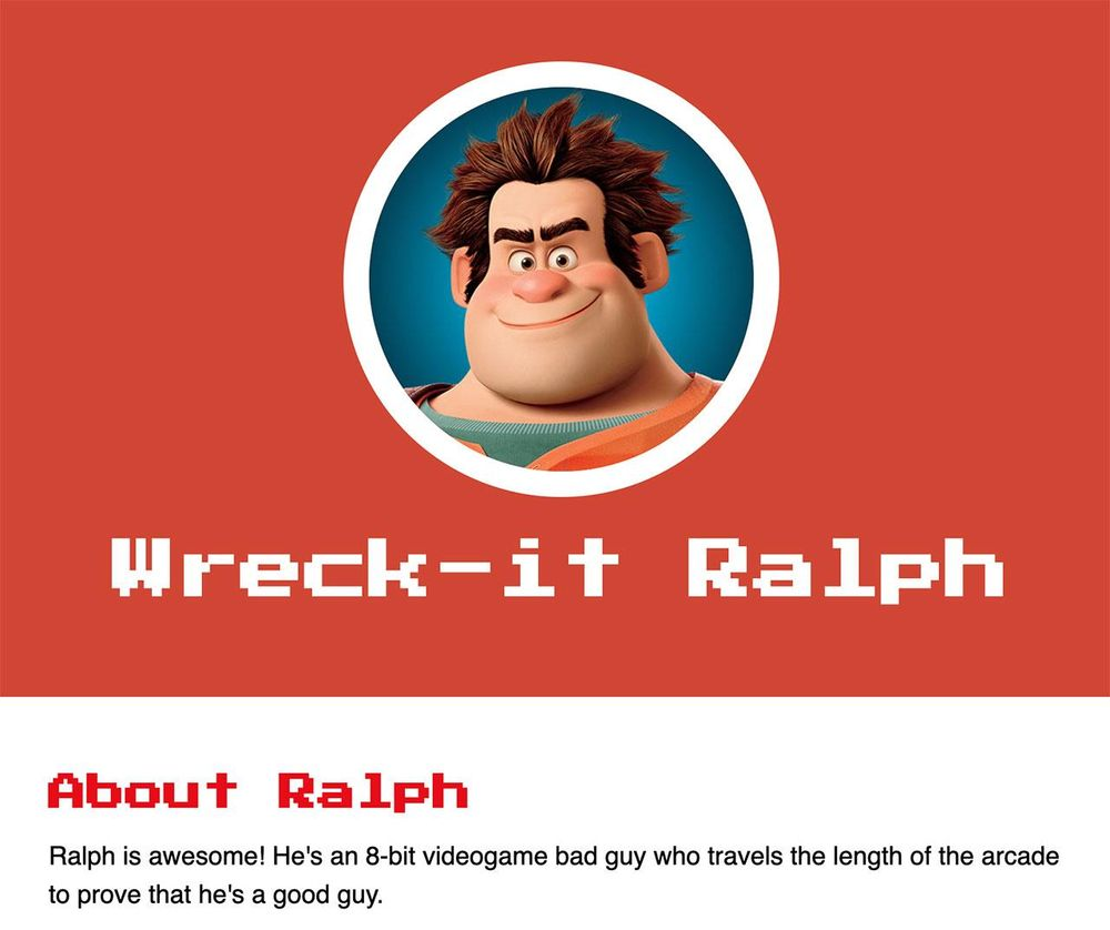 Wreck-it Ralph - image 2 - student project