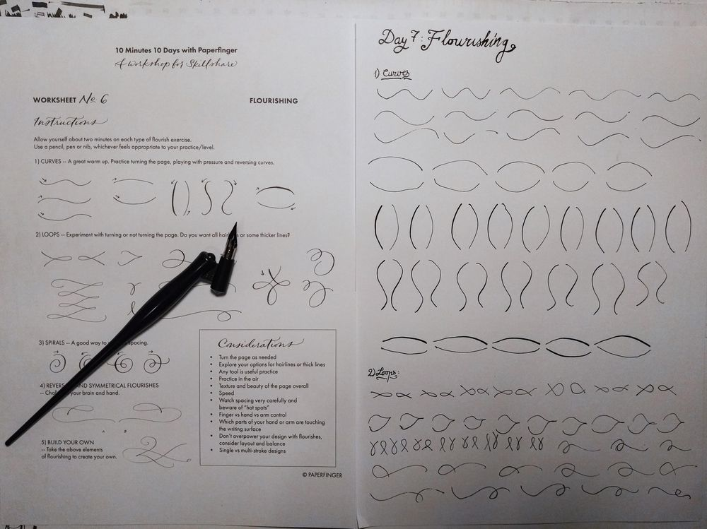 Ten-Day Calligraphy Challenge - image 6 - student project