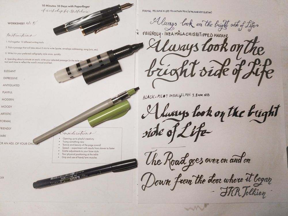 Ten-Day Calligraphy Challenge - image 11 - student project