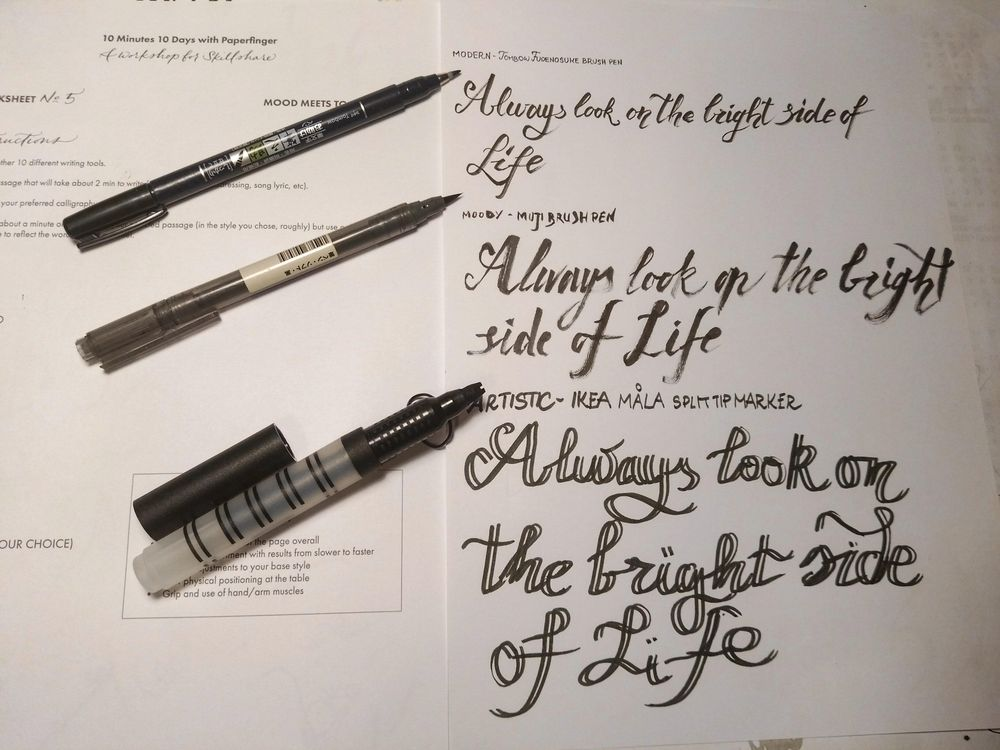 Ten-Day Calligraphy Challenge - image 10 - student project