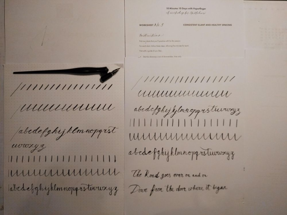 Ten-Day Calligraphy Challenge - image 15 - student project