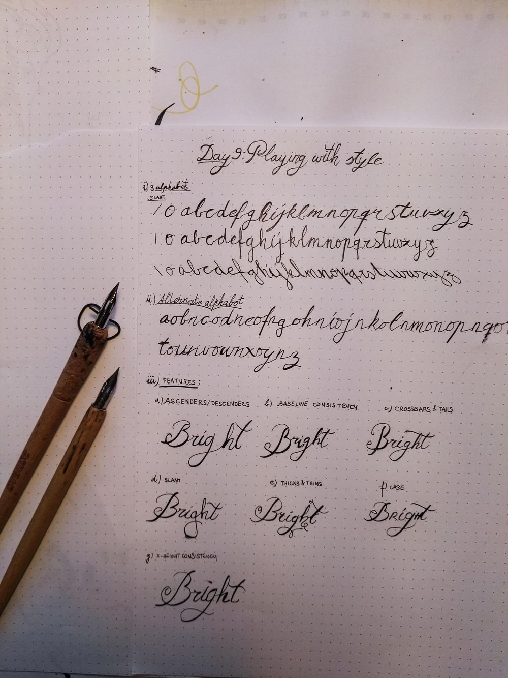 Ten-Day Calligraphy Challenge - image 3 - student project