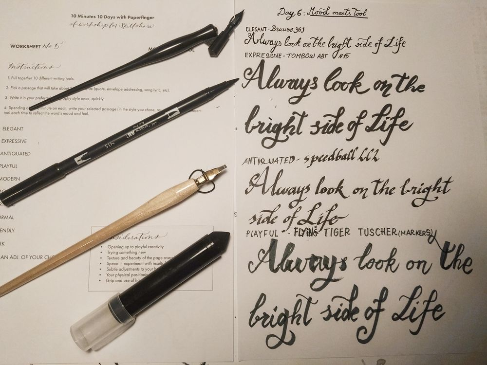 Ten-Day Calligraphy Challenge - image 9 - student project