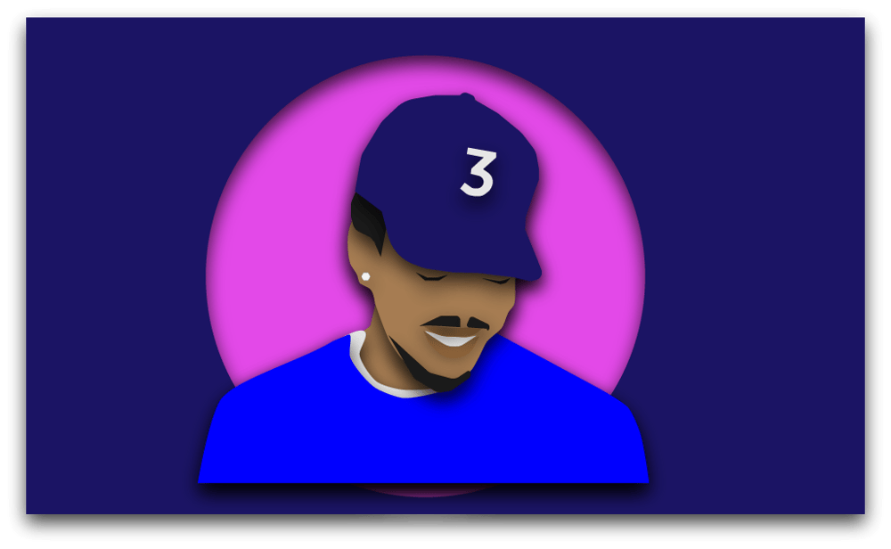 Chance the Rapper Cover Art Layers - image 1 - student project