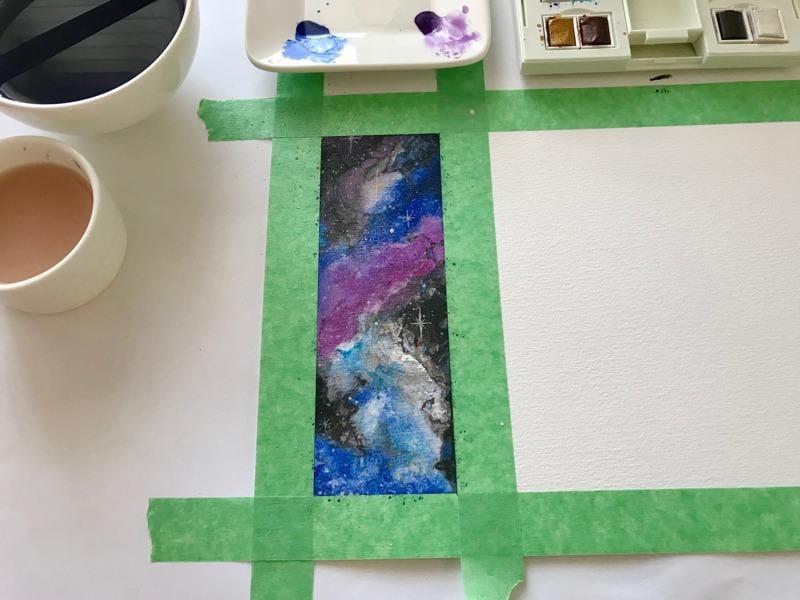 Gas Planet Stripes & Nebula Bookmark - image 4 - student project