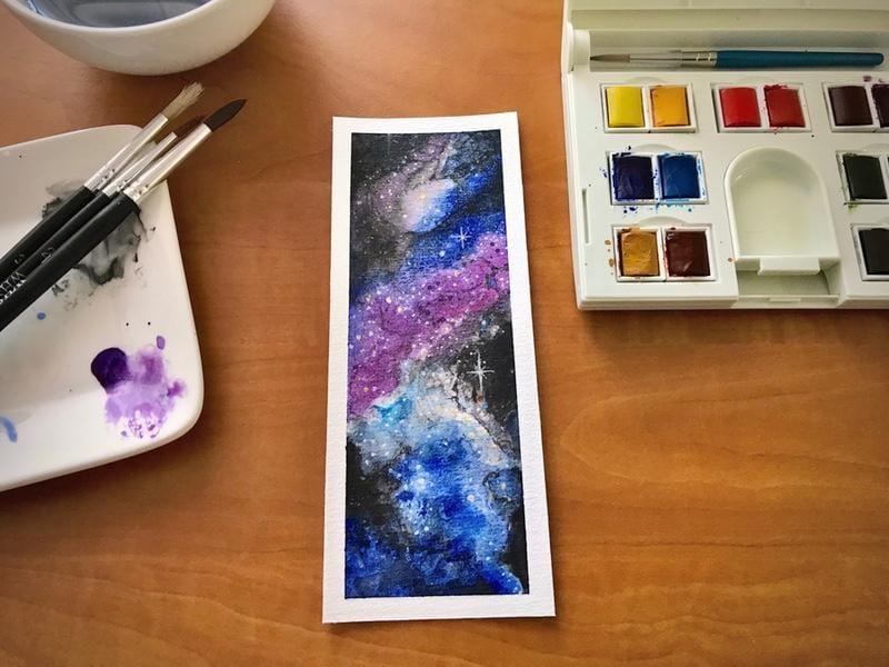 Gas Planet Stripes & Nebula Bookmark - image 5 - student project