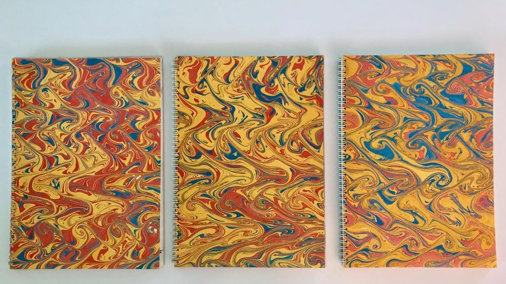 Marbling with Oil Colours - image 5 - student project