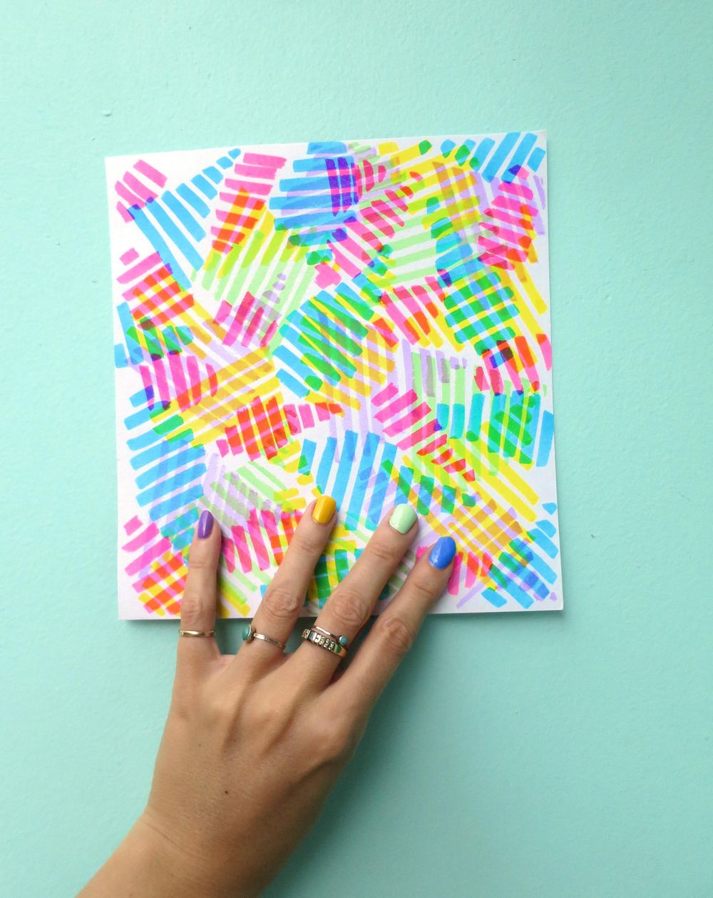 Abstract Rainbows – inspired by my nail polish! - image 1 - student project